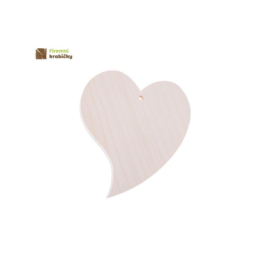 drewniane serce krzywe 11x13 cm
