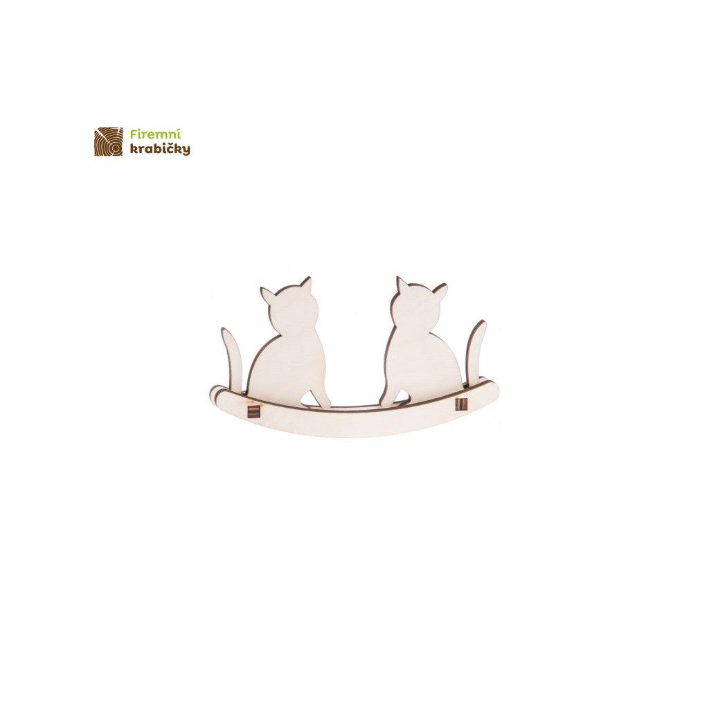 drewniane kotki na biegunach male