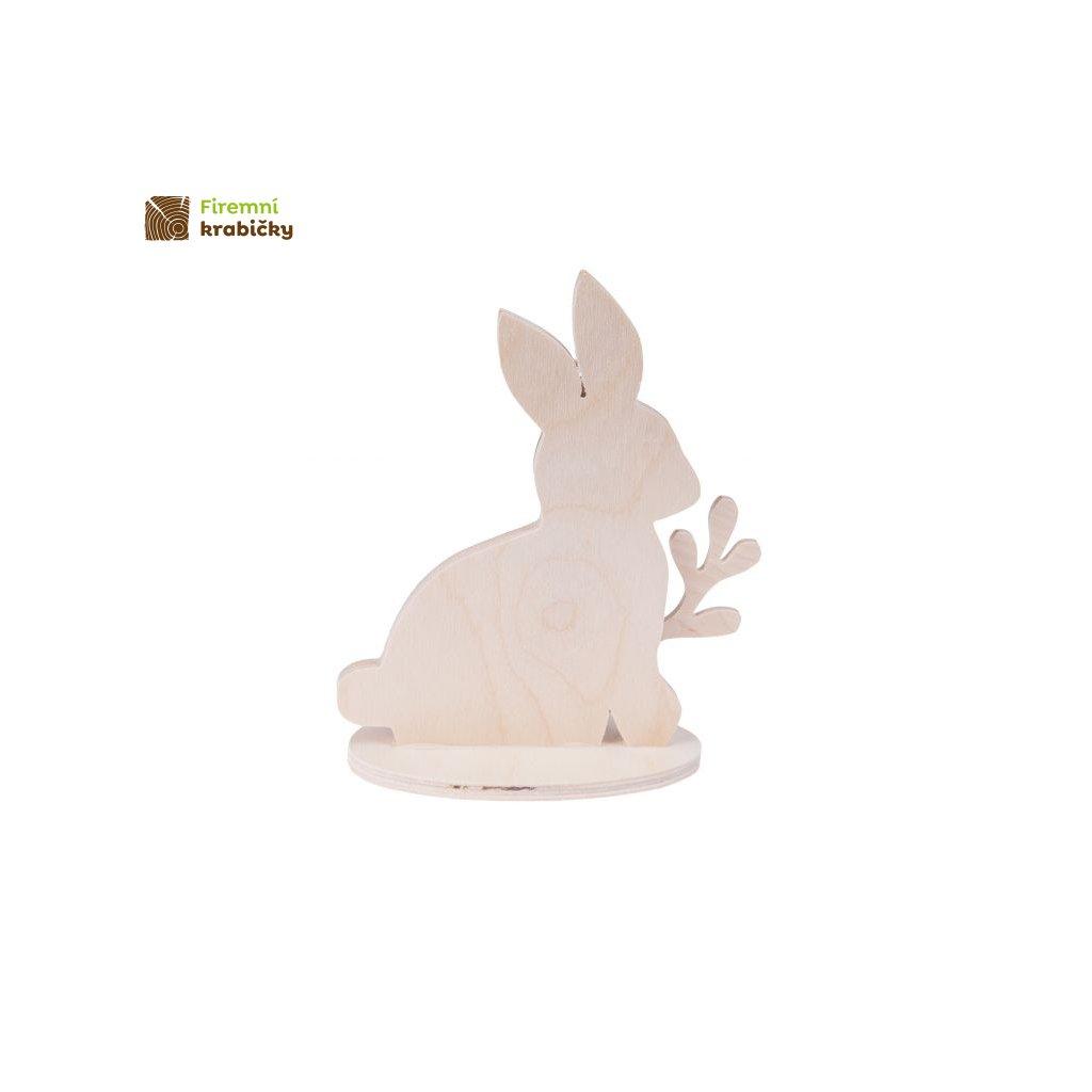 zajac z palemka na podstawce