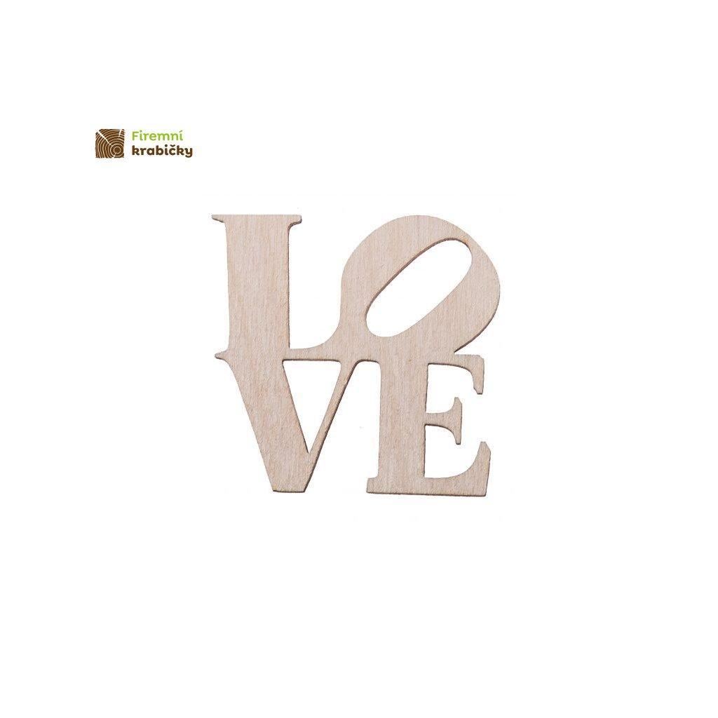 drewniany napis love maly scrapki ozdoba decoupage