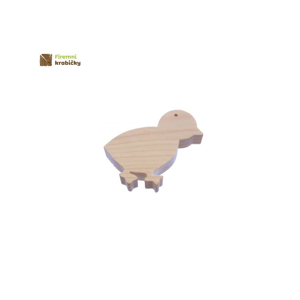 drewniana zawieszka kurczatko