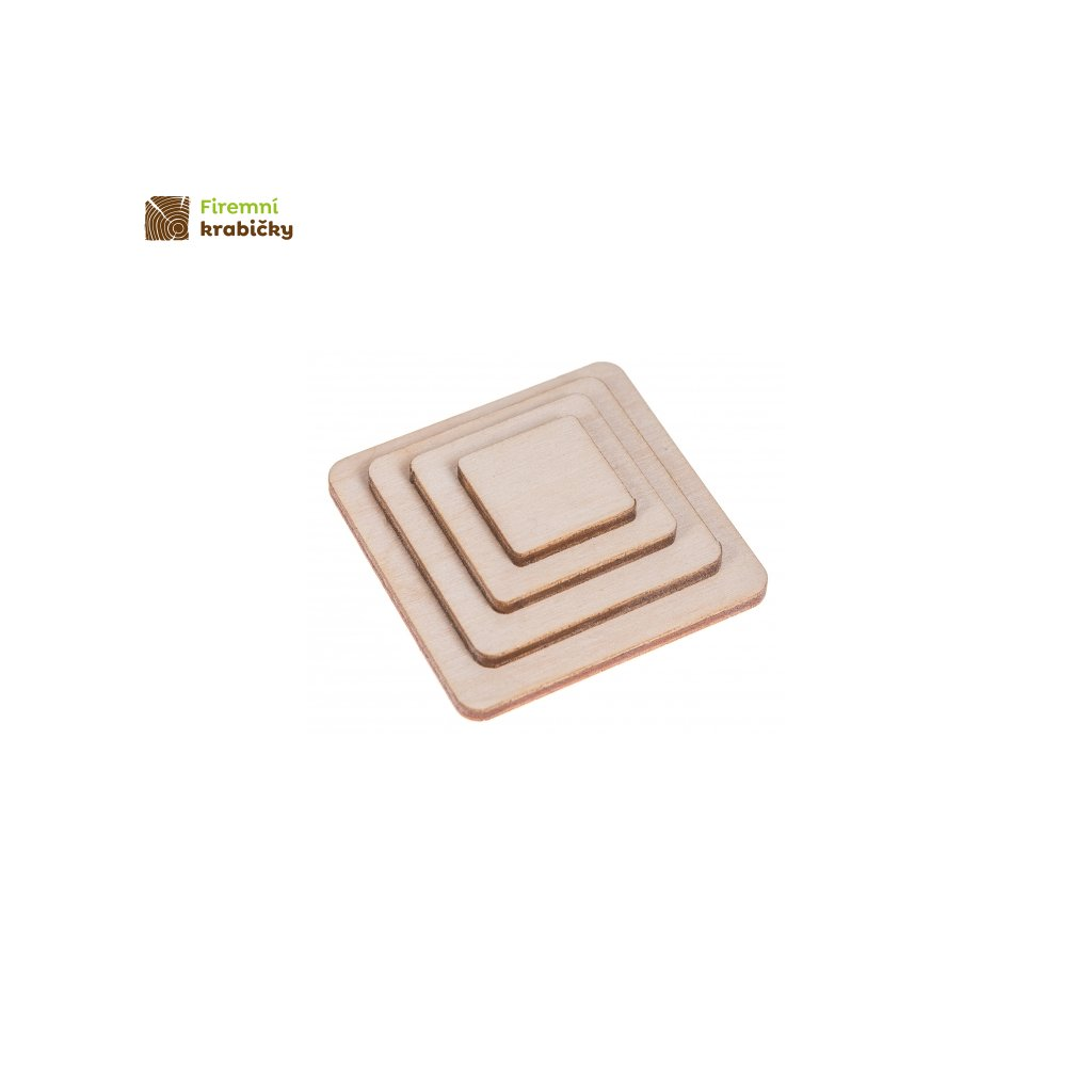 drewniany kwadrat komplet 4szt