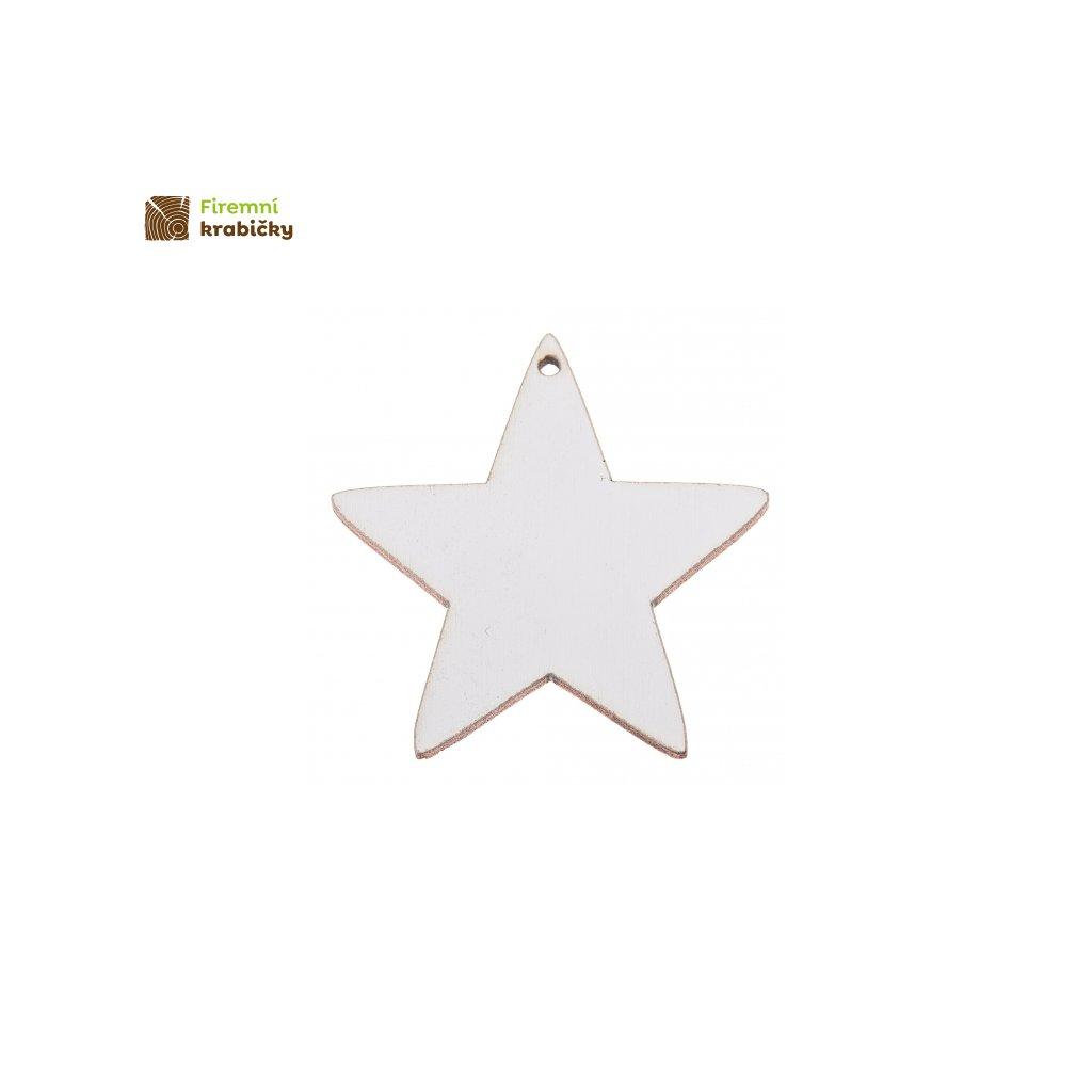 gwiazdka zawieszka biala 5x5 cm