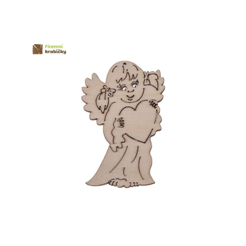 drewniany aniolek