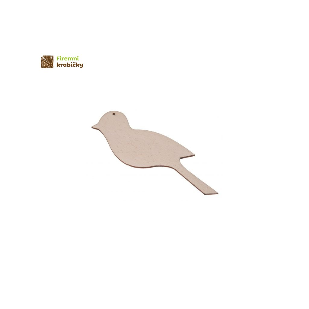 drewniany ptaszek 2 zawieszka