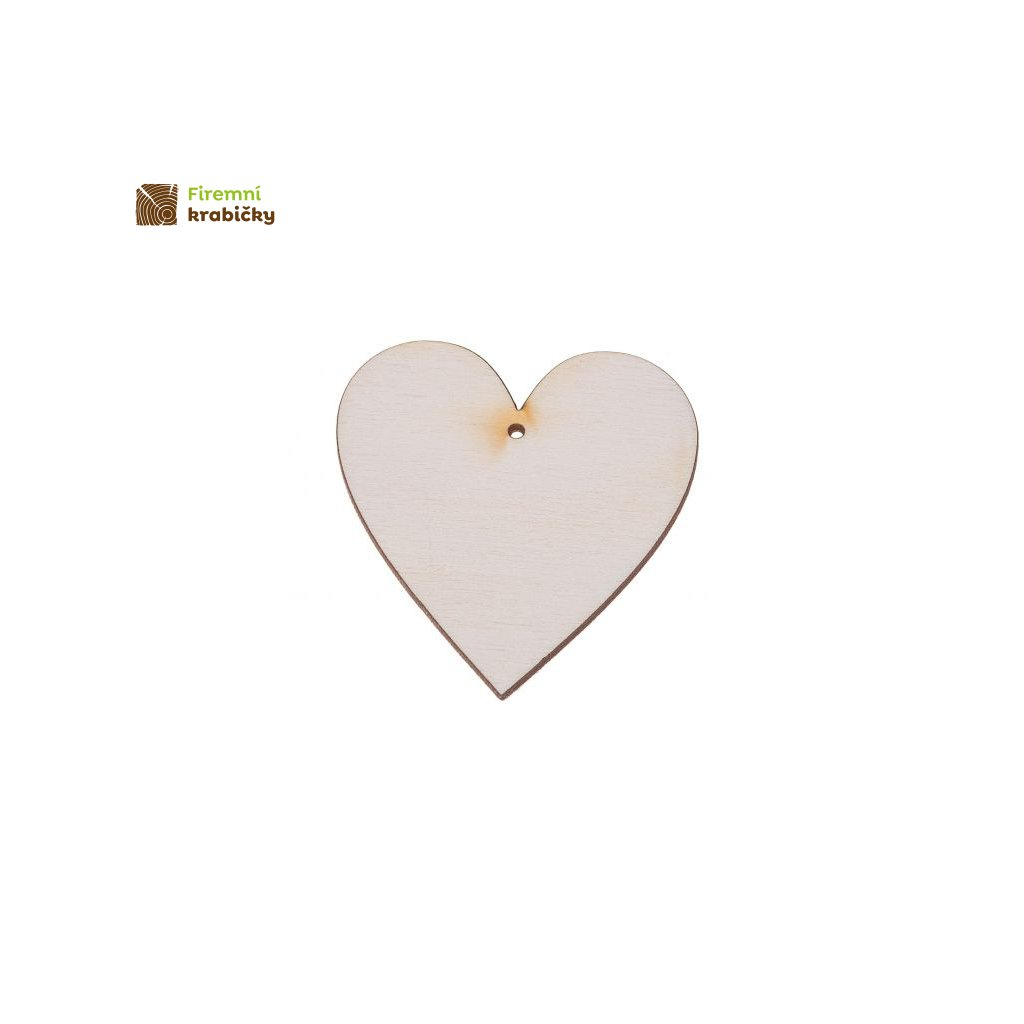 drewniane serce 3x3 cm zawieszka 1 szt