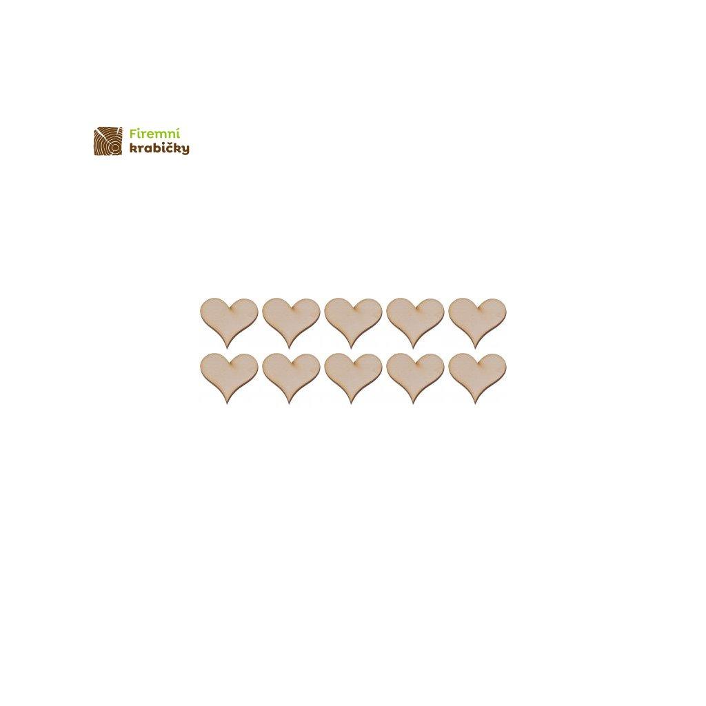 drewniane serce 2 1x1 cm 10 szt