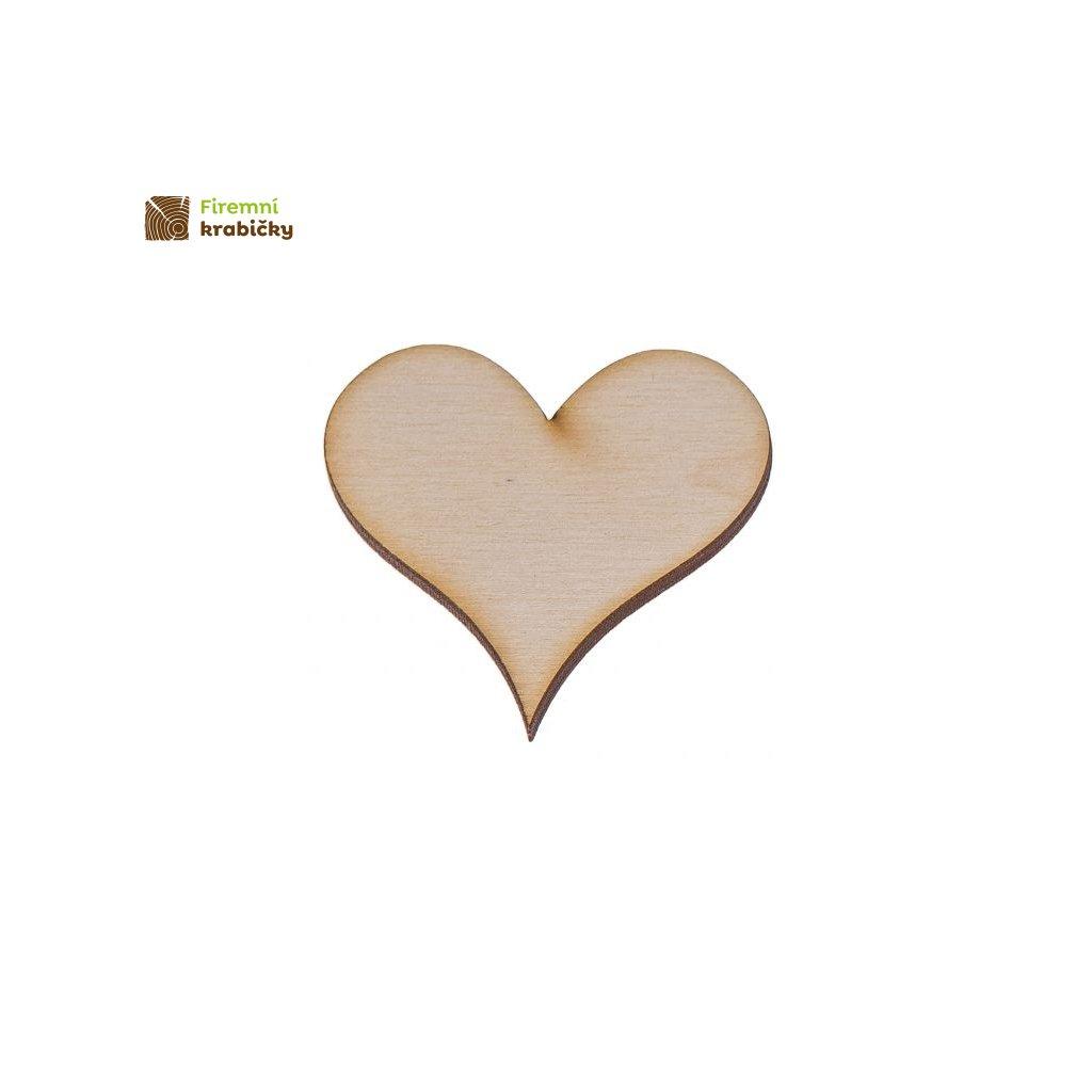 drewniane serce 2 5x5 cm 1 szt