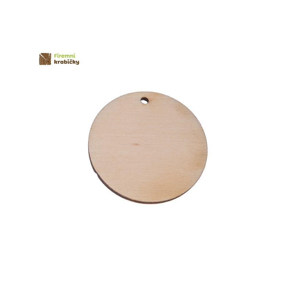 drewniane kolko zawieszka 5x5cm 1 szt