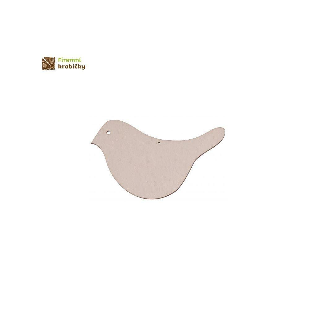drewniany ptaszek 3 zawieszka