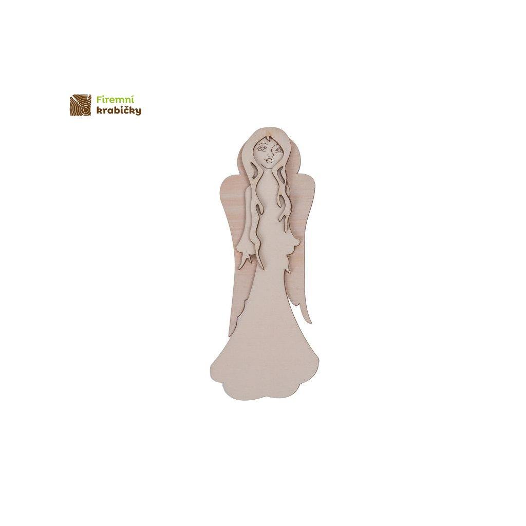 drewniany aniolek 25 cm