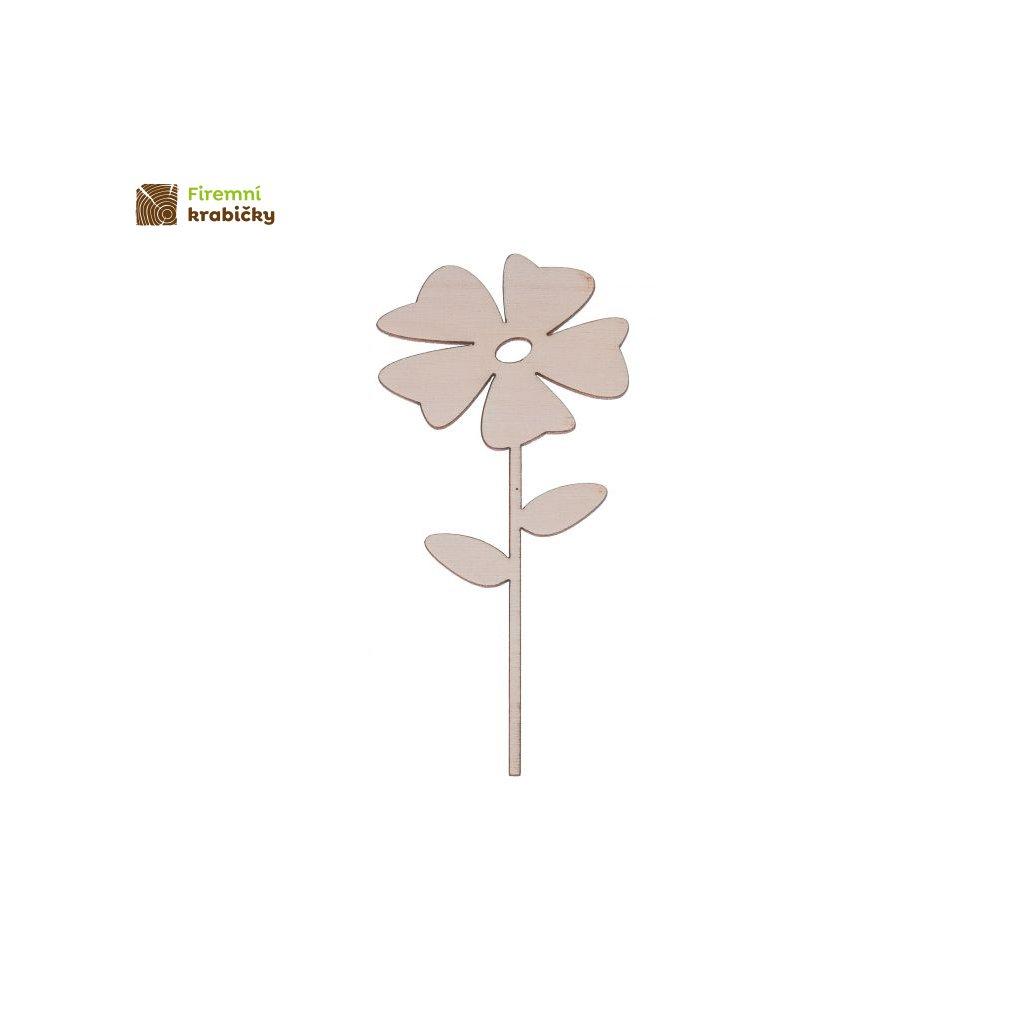 drewniany kwiatek 2b