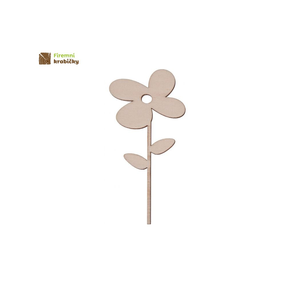 drewniany kwiatek 1b