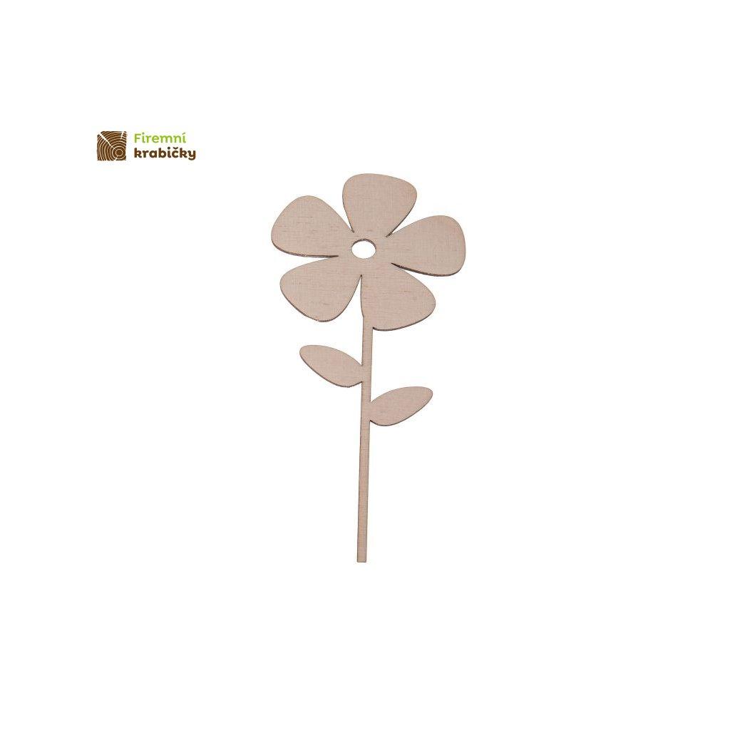 drewniany kwiatek 3b