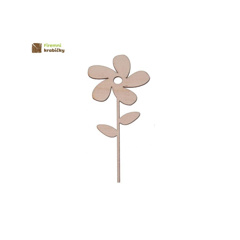 drewniany kwiatek 4b