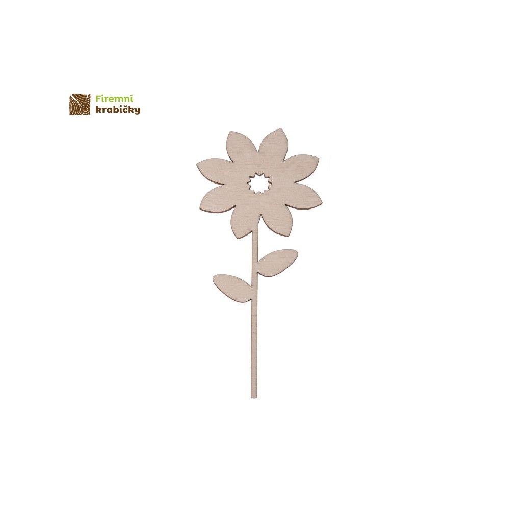 drewniany kwiatek 5b