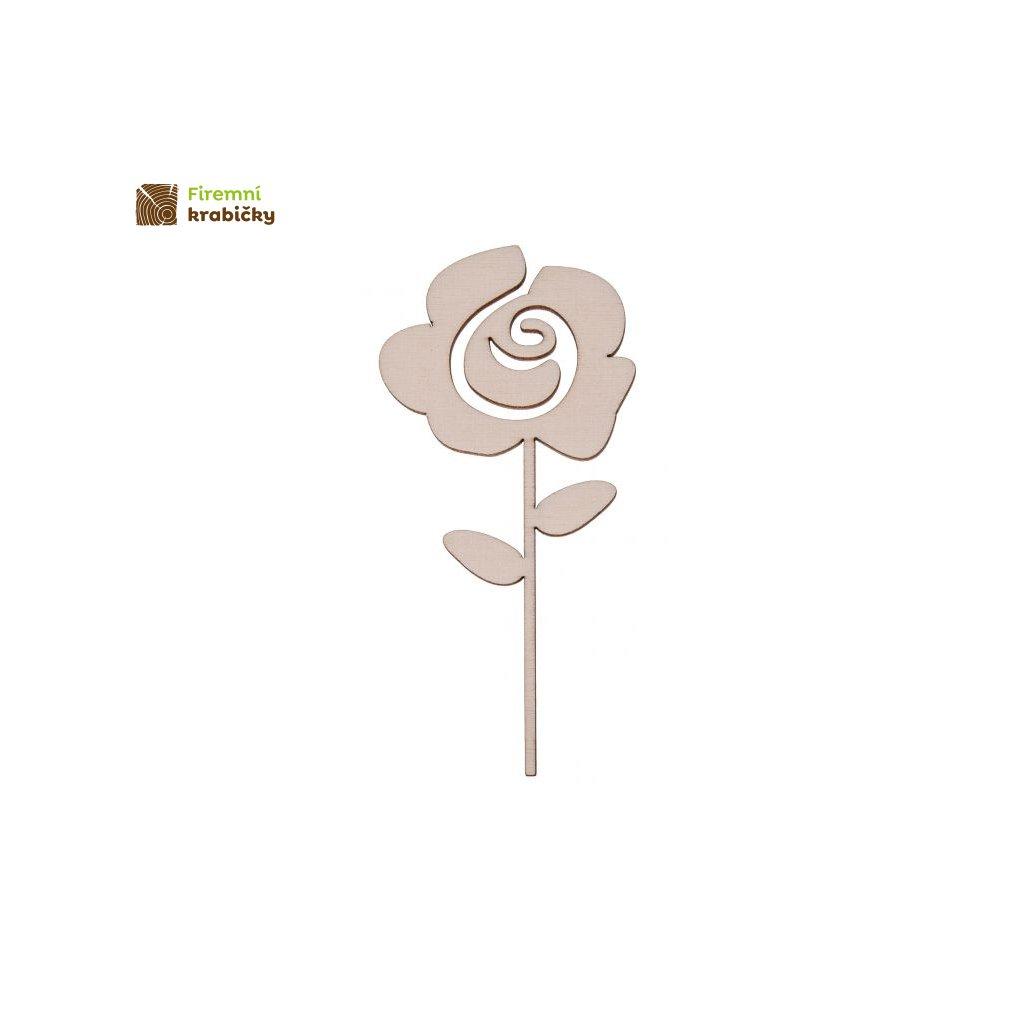 drewniany kwiatek 6b