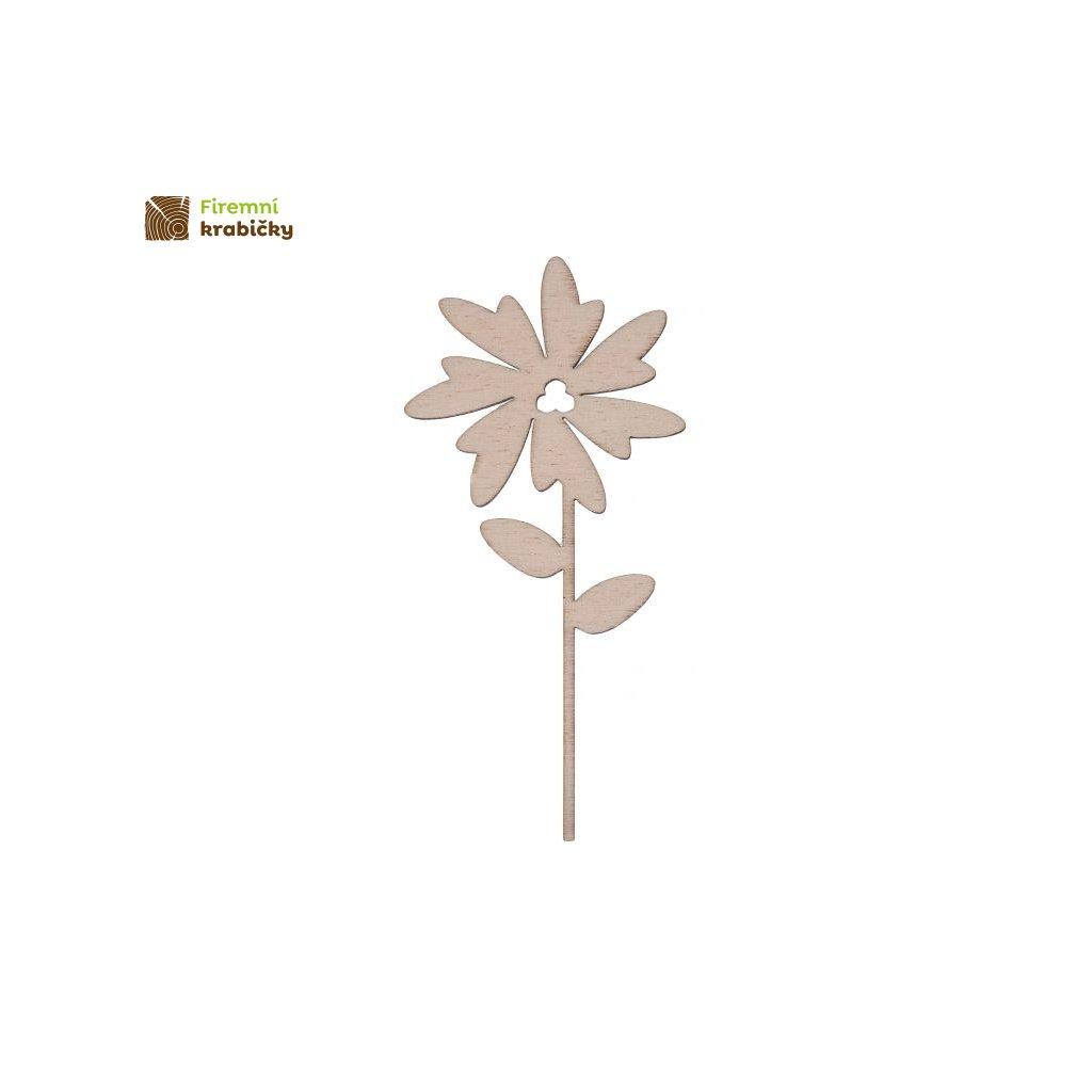 drewniany kwiatek 9b