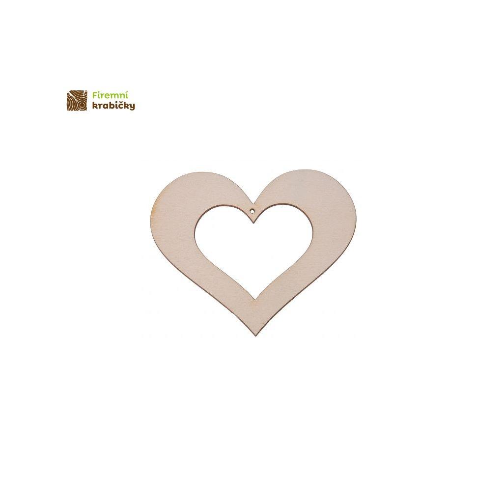 drewniane serce 10x11 cm