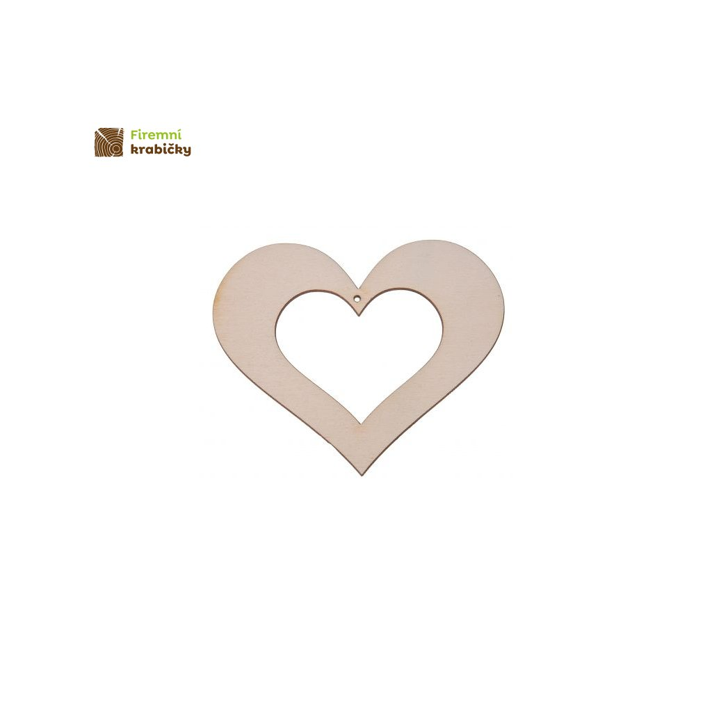 drewniane serce 5x6 cm