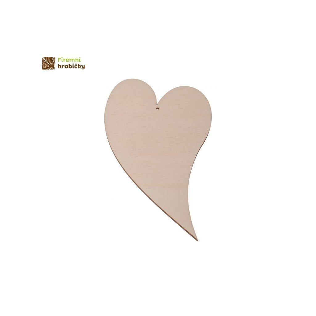 drewniane serce 3 10x55 cm