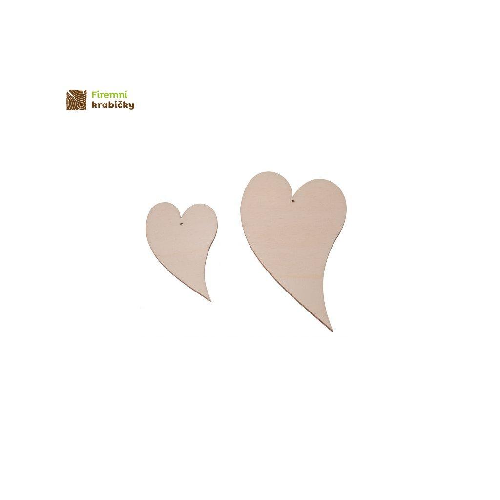 drewniane serce 3 kpl 2 szt