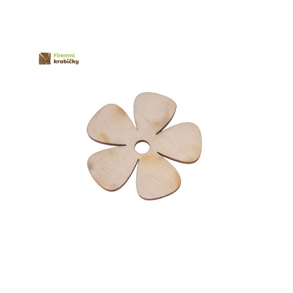 drewniany kwiatek 3x3 cm 1 szt