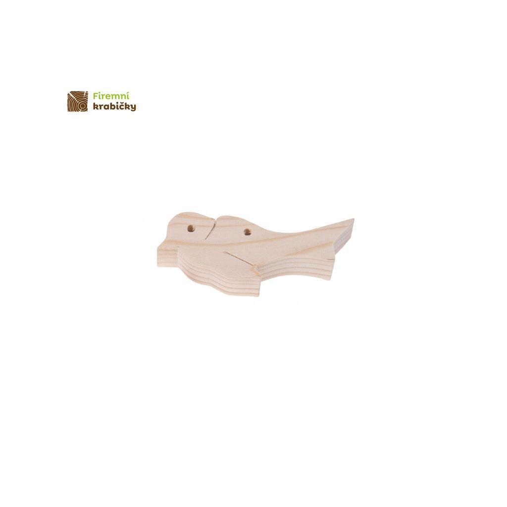 drewniana zawieszka ptaszek
