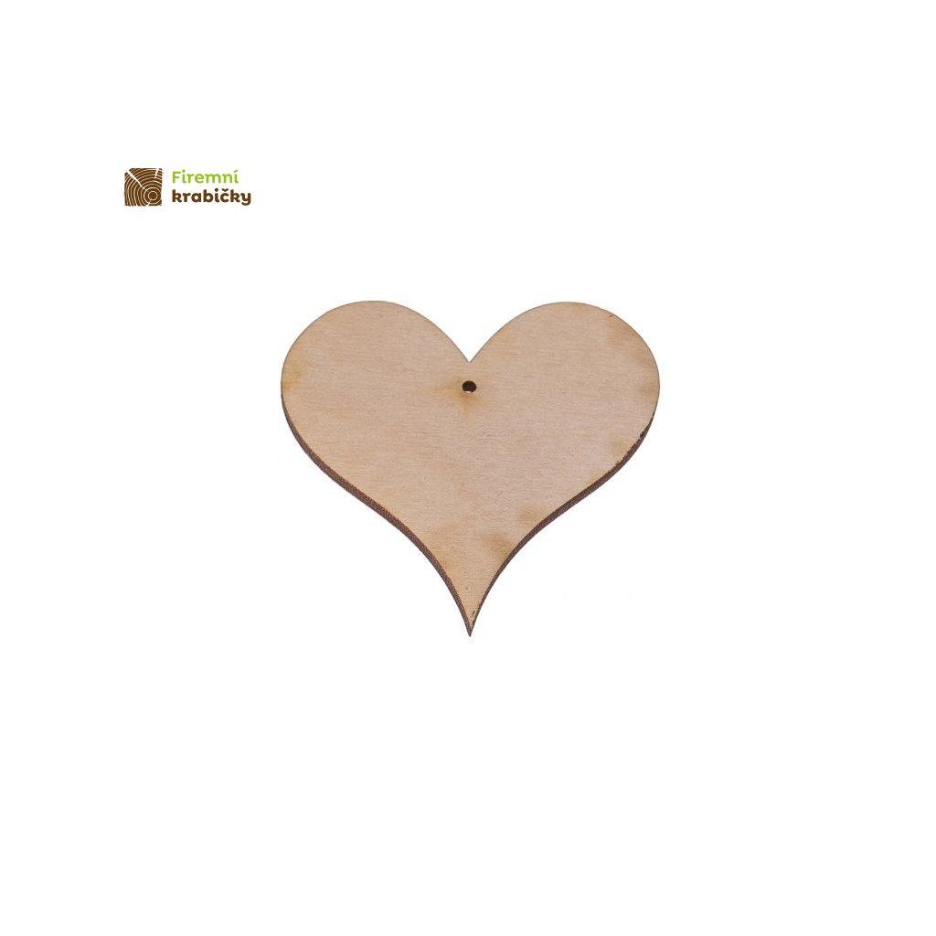 drewniane serce 2 zawieszka 4x4 cm 1 szt