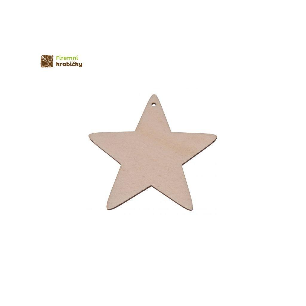 drewniana gwiazdka 10x10 cm