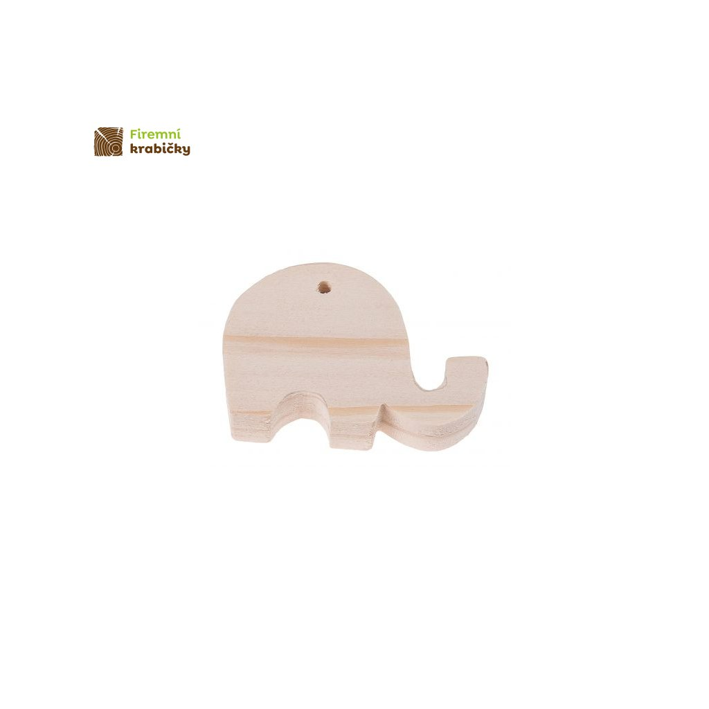 drewniany slonik zawieszka