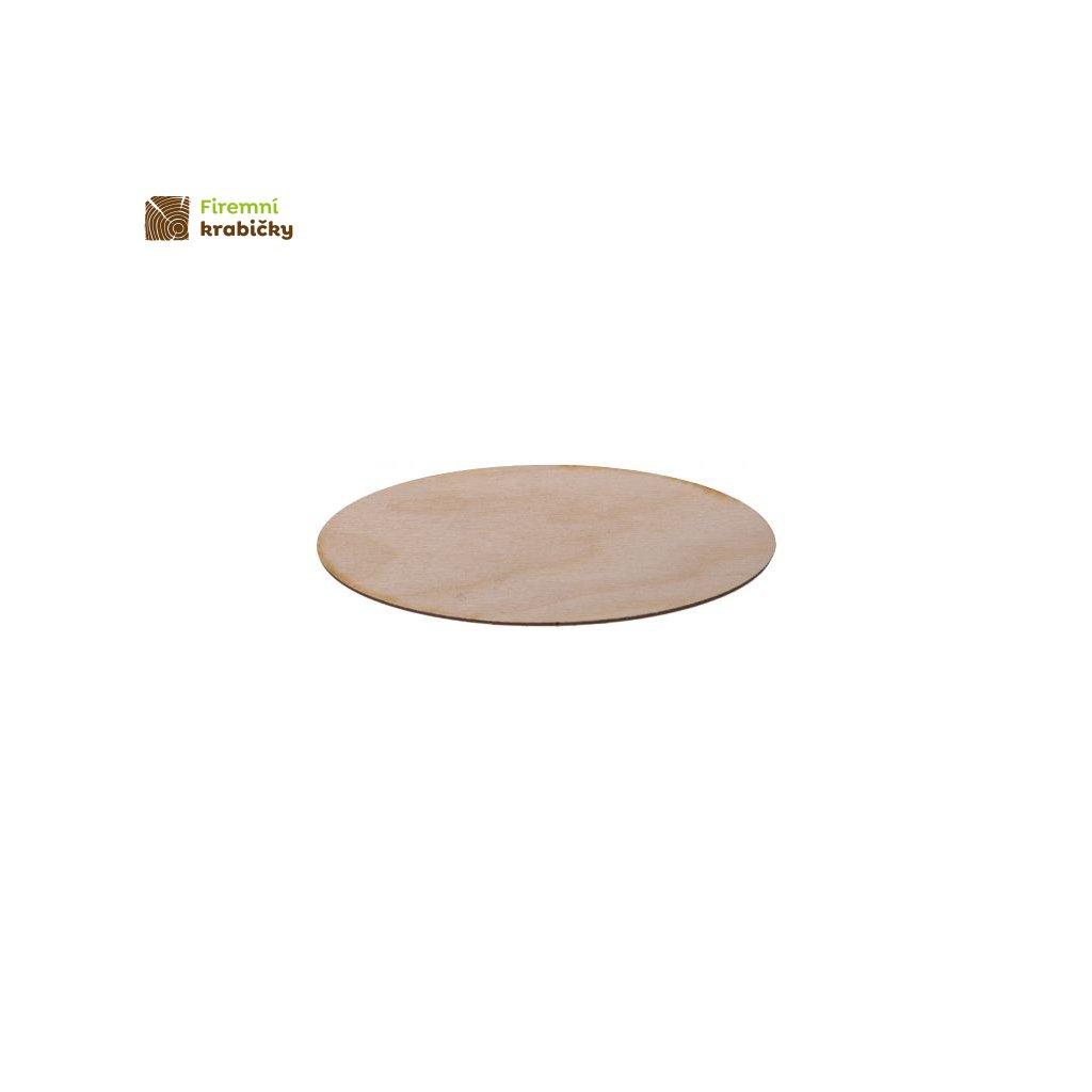 drewniana elipsa 5x135 cm 1 szt