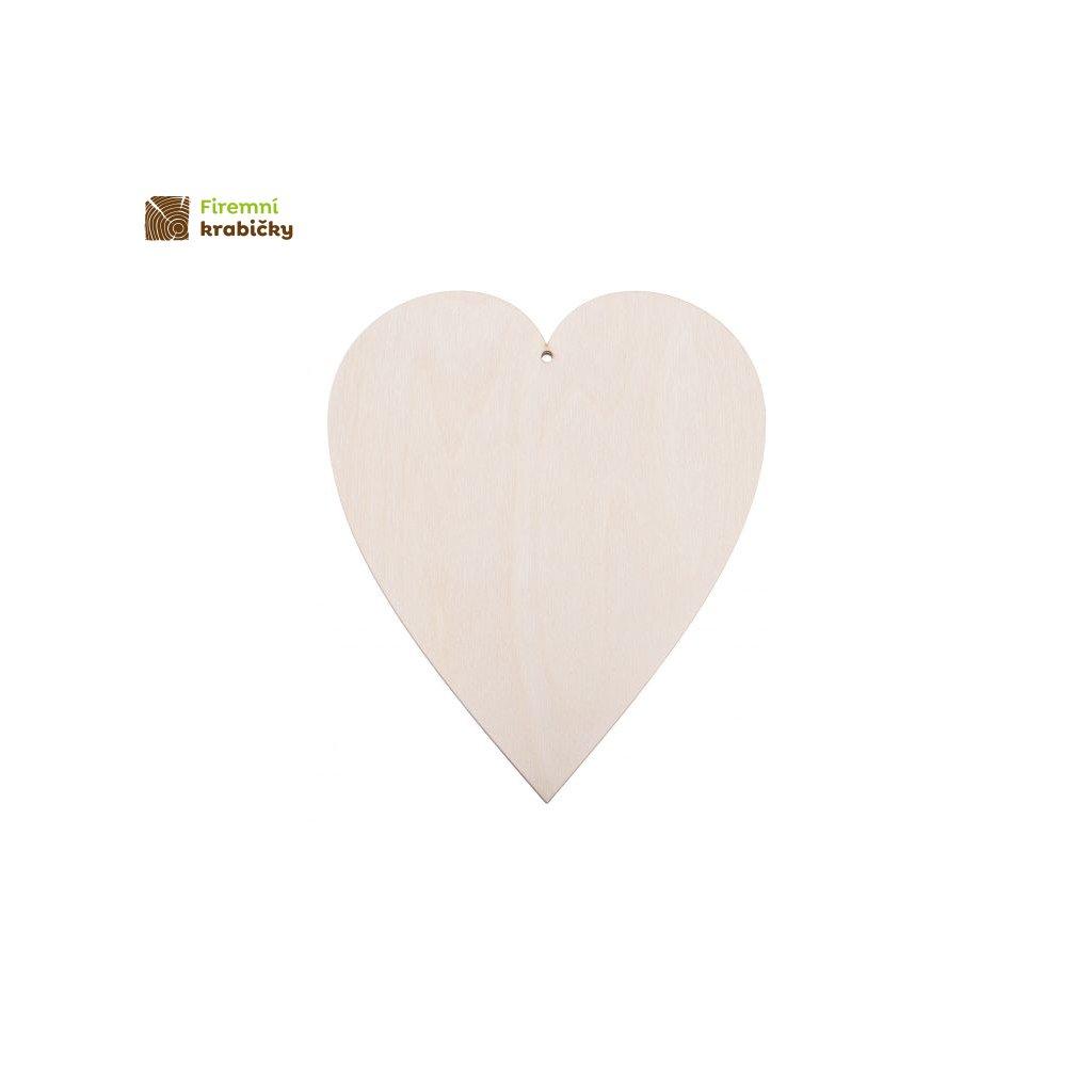 drewniane serce 11x12 cm