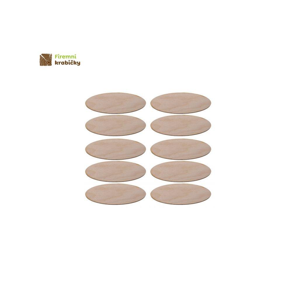 drewniana elipsa 5x135 cm 10 szt