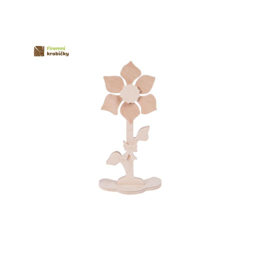 drewniany kwiatek 4