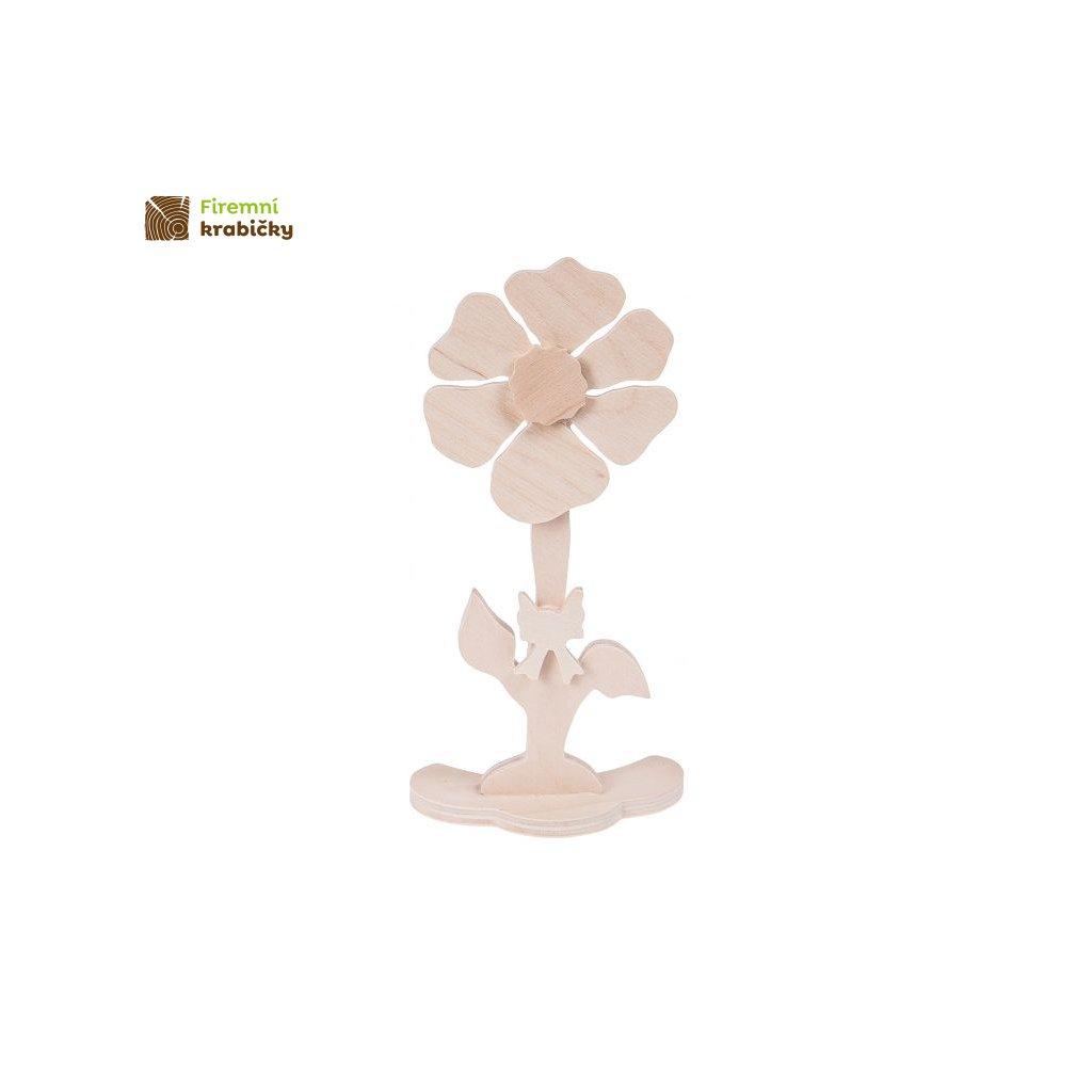 drewniany kwiatek 2