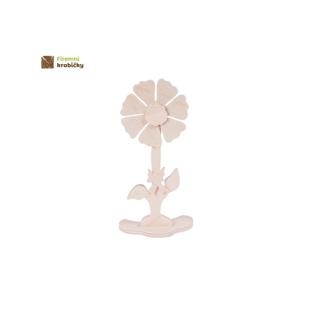 drewniany kwiatek 1