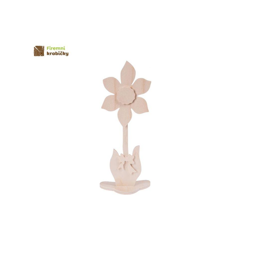 drewniany kwiatek 4 duzy