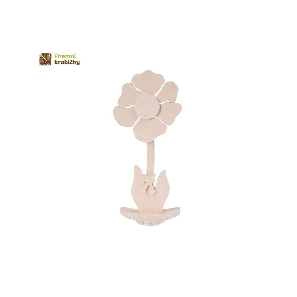 drewniany kwiatek 3 duzy
