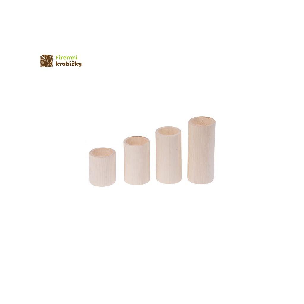 swieczniki okragle 4 szt 6 12 cm