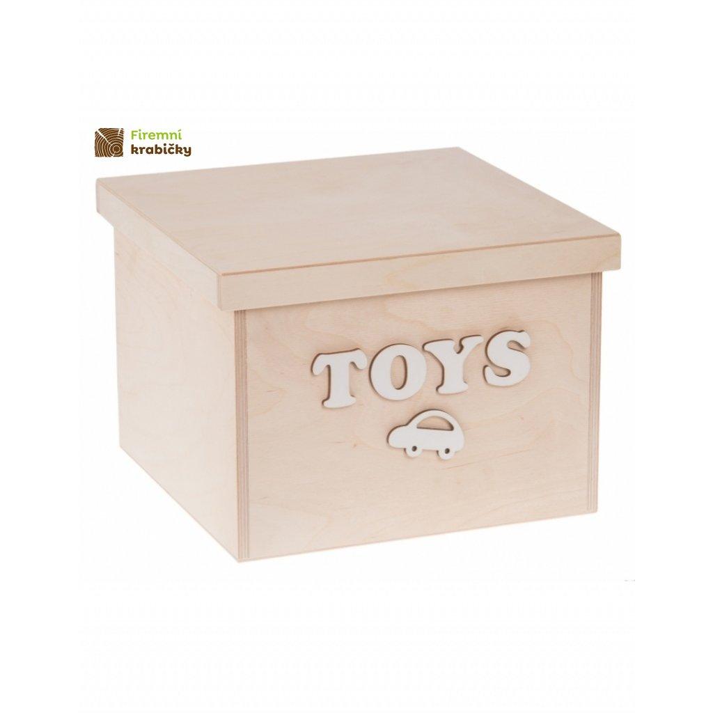 12215 dreveny box na hracky toys velky