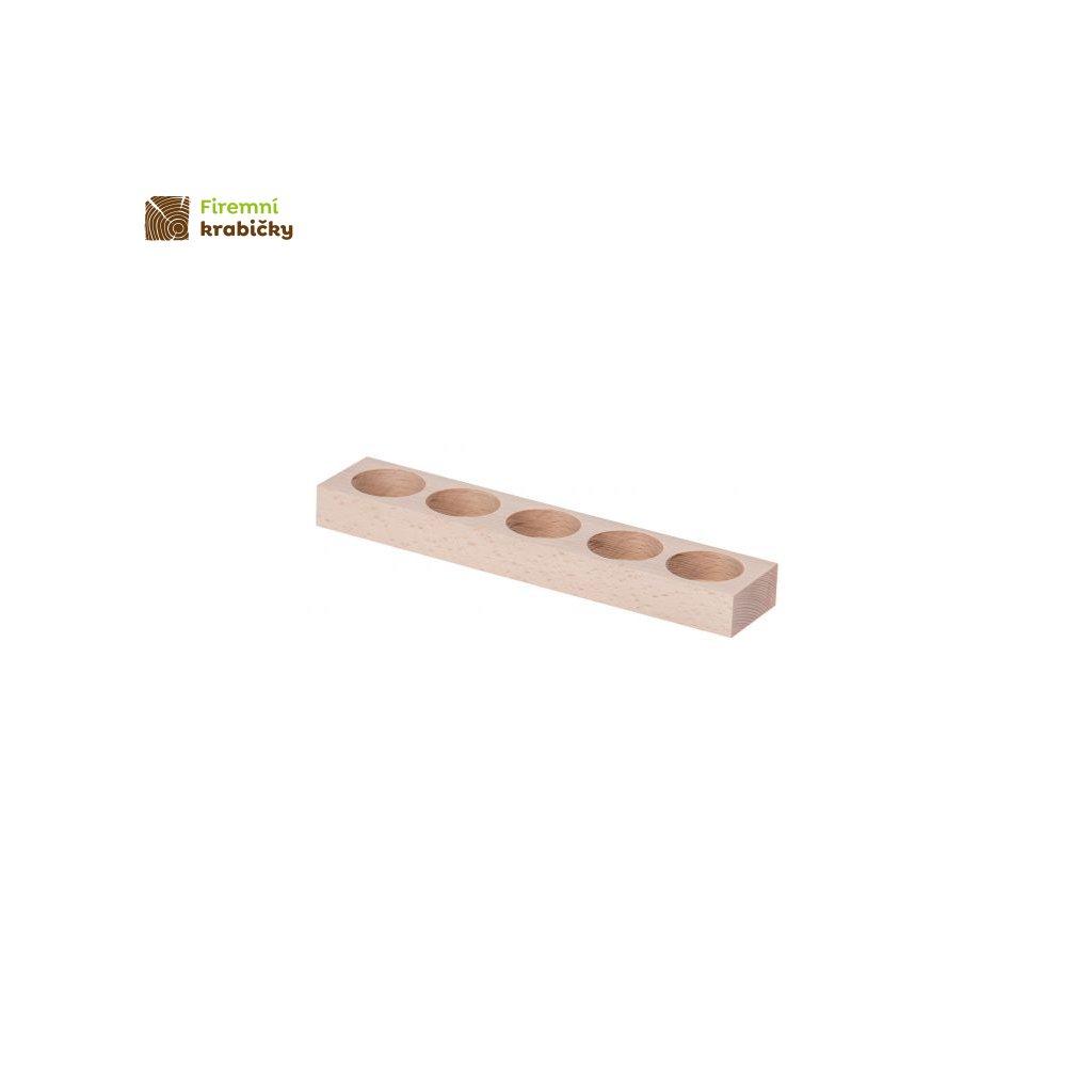 swiecznik drewniany 5p