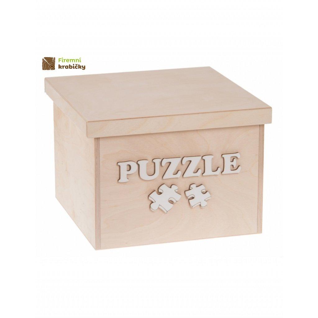 12224 dreveny box na hracky puzzle maly