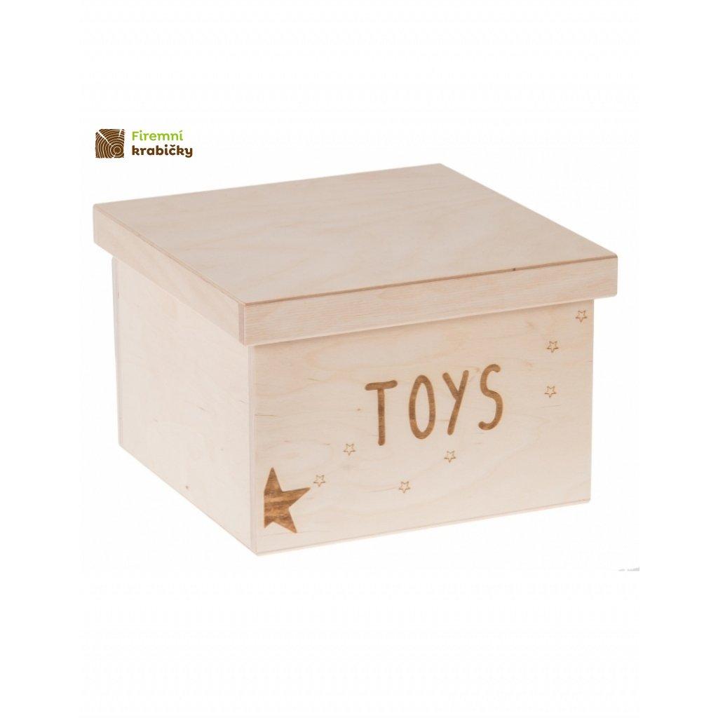 12227 dreveny box na hracky toys gravir velky