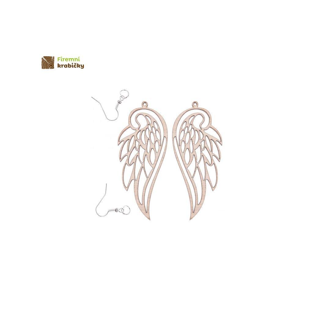 kolczyki skrzydla 75x32 cm