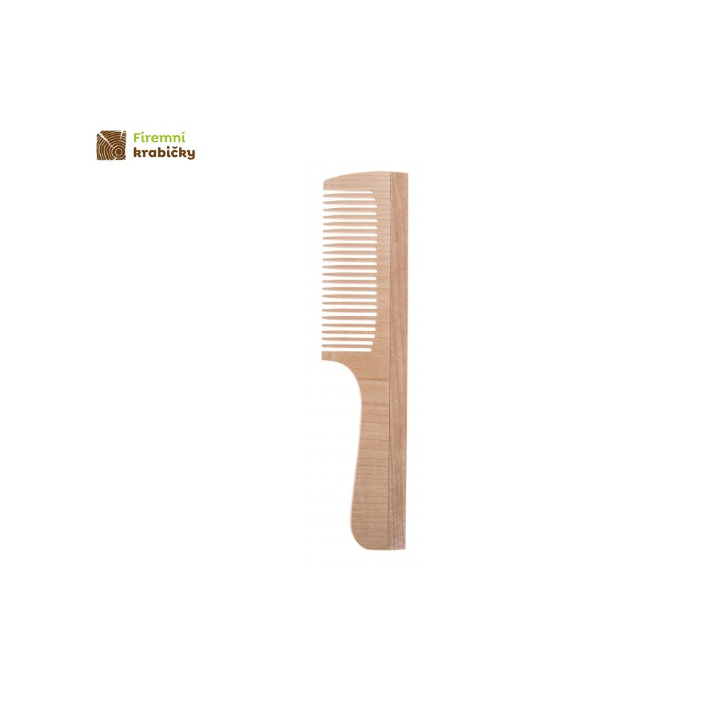drewniany grzebien z raczka 1