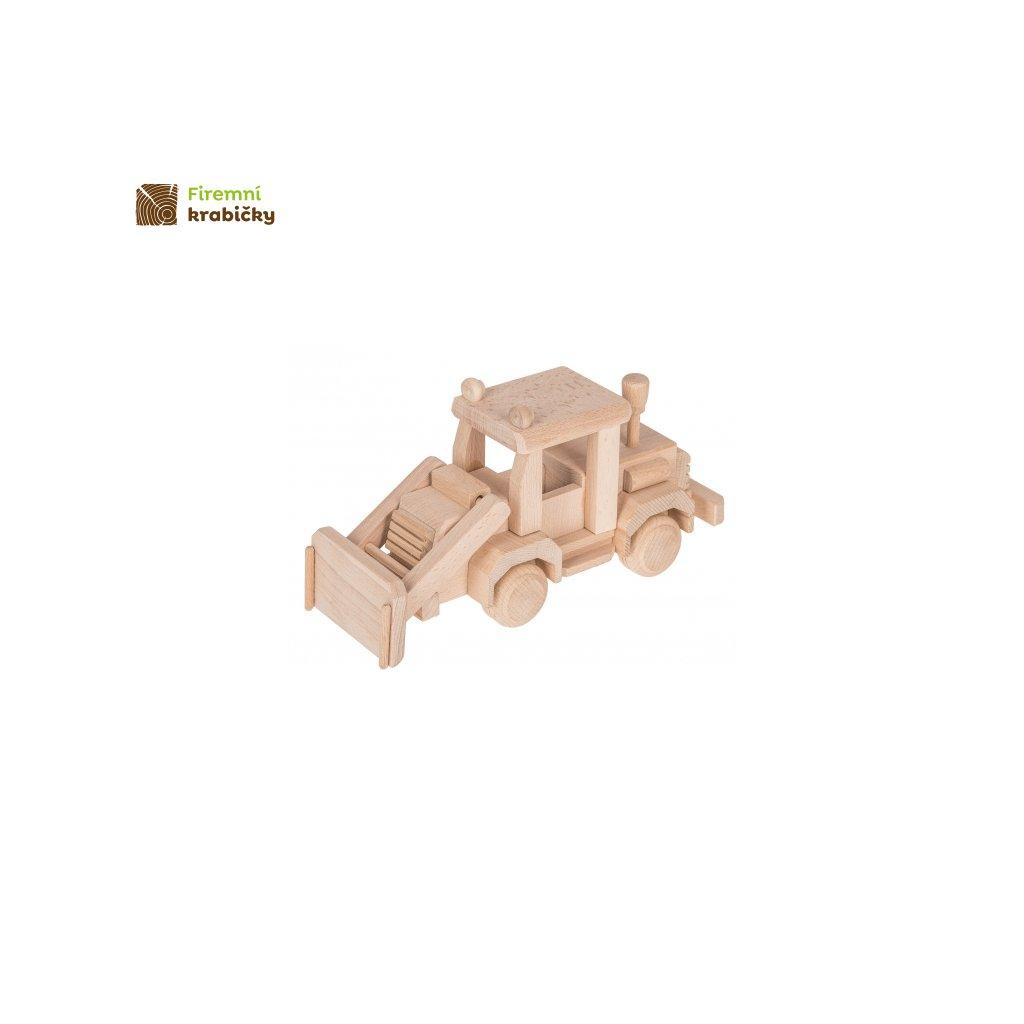 buldozer drewniana zabawka