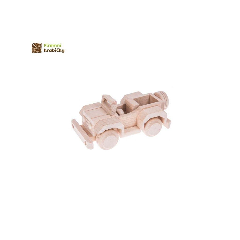 jeep drewniana zabawka