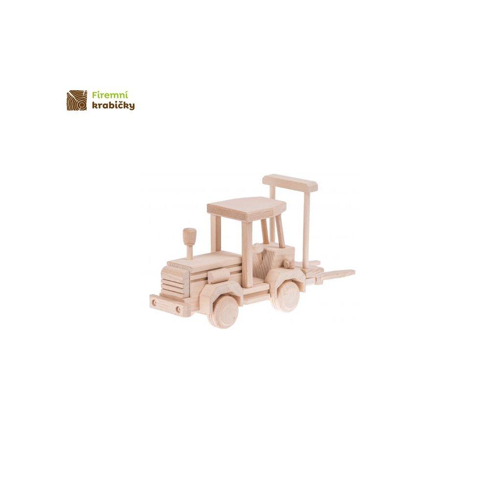 wozek widlowy drewniana zabawka