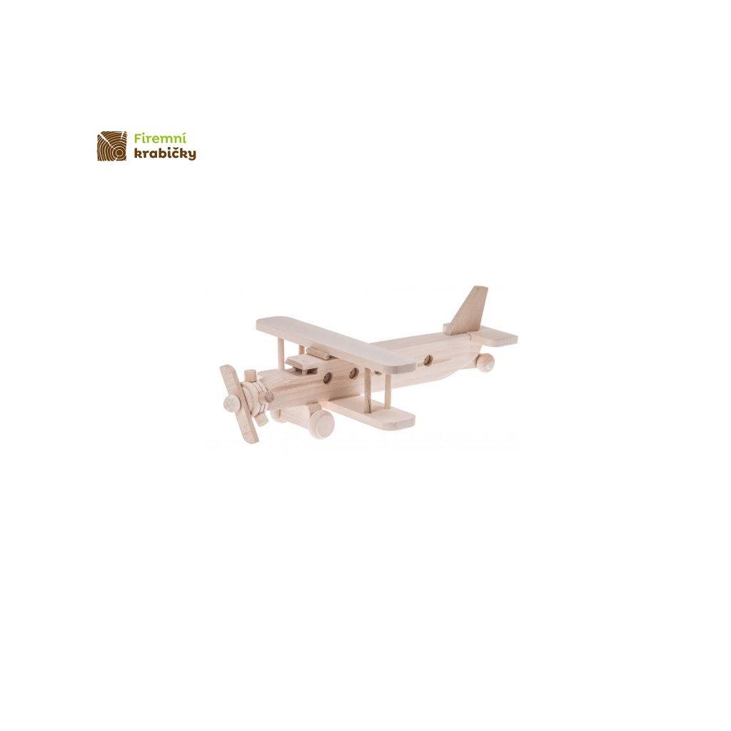 drewniany samolot dwuplatowiec zabawka